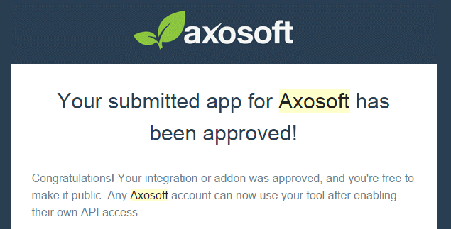 ybSync.com approved by Axosoft